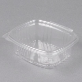 Genpak - Deli Container with Hinged Lid, 12 oz Clear Plastic