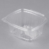 Genpak - Deli Container with Hinged Lid, 16 oz Clear Plastic