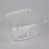 Genpak - Deli Container with Hinged Dome Lid, 16 oz Clear Plastic