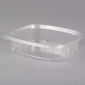 Genpak - Deli Container with Hinged Lid, 24 oz Clear Plastic