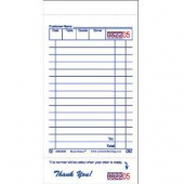 Guestcheck Paper, Single Paper White with Perforated Order Receipt Stub, 16 Lines, 3.5x7