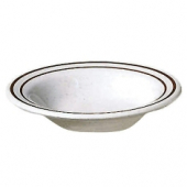 "Salad Bowl, 17 oz, 7.25"" 'Arcadia' Ivory with Sparkle Melamine"