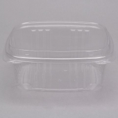 Genpak - Deli Container with Hinged Dome Lid, 32 oz Clear Plastic