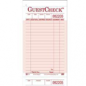 Guestcheck Paper, Single Paper Pink with Perforated Order Receipt Stub, 18 Lines, 3.5x7