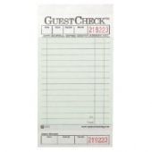 Guestcheck Board, Single Paper Green with Perforated Order Receipt Stub, 17 Lines, 3.5x7