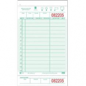Guestcheck Board, Single Paper Green with Perforated Order Receipt Stub, 14 Lines, 4x8
