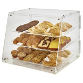 Winco - Acrylic Display Case, 3 Tray with Front and Rear Hinged Doors
