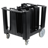 Camrbo - Dish Caddy with Vinyl Cover, S Series Adjustable with 6 Columns, 37.75x28.625x31.875 Black