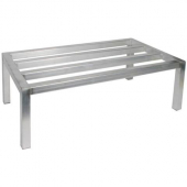Winco - Dunnage Rack, 20x36x12 Aluminum, Holds up to 1800 Lbs