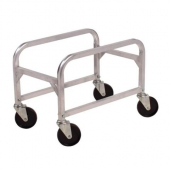 Winco - Lug Box Cart, 16.75x25x19 Aluminum with 4 Casters