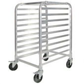 "Winco - Pan Rack, Aluminum with 10 Tiers and Brakes, 3"" Spacing"