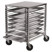 Winco - Pan Rack, Aluminum with 15 Tiers, Wire Slides, Hard Top and 4 Casters