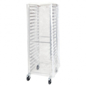 Winco - Pan Rack Cover for 20 and 30 Tier Racks, Clear Plastic with Zipper
