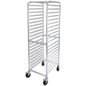 "Winco - Pan Rack, Aluminum with 20 Tiers and Brakes, 3"" Spacing"