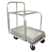 "Sheet Pan Truck, 20.75x28.25x33.375 Aluminum with 4 5"" Swivel Casters, Holds 54 18x26 or 108 18x13 P"