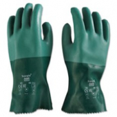 Gloves, Neoprene Green, Cotton Lined, Size 10