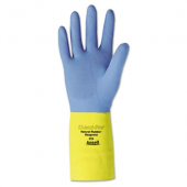 "Gloves, Neoprene Blue/Yellow 13"", XL"