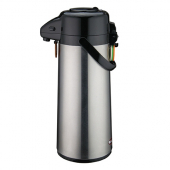Winco - Airpot, 2.5 Liter Stainless Steel with Glass Liner and Push Button