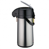 Winco - Airpot, 1.9 Liter Stainless Steel with Glass Liner and Lever Top