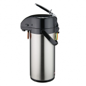Winco - Coffee Air Pot with Lever Top, 2.5 Liter Stainless Steel Liner and Body