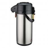 Winco - Coffee Air Pot with Push Button, 2.5 Liter Stainless Steel Liner and Body