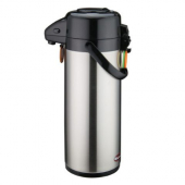 Winco - Coffee Air Pot with Push Button, 3 Liter Stainless Steel Liner and Body
