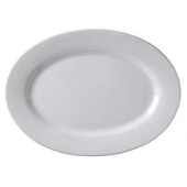 "Vertex China - Argyle Platter with Wide Rim, 9.75"" Oval Porcelain White"