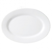 "Vertex China - Argyle Platter with Wide Rim, 11.5"" Oval Porcelain White"