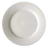 "Vertex China - Argyle Plate with Wide Rim, 11"" Porcelain White"