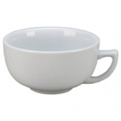 Vertex China - Argyle Cappuccino Cup, 12 oz Porcelain White