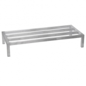 Winco - Dunnage Rack, 20x60x8 Aluminum, Holds up to 1200 Lbs