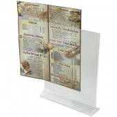 Winco - Menu Stand, 8x11 Acrylic Double Sided