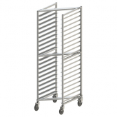 "Winco - Bun Rack, 20 Tier Nesting Style with 3"" Spacing, Aluminum for Sheet Pans with Brake"