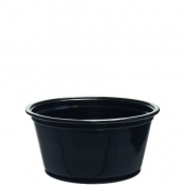 Solo - Souffle Portion Cup, 2 oz Black Plastic