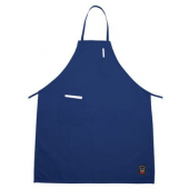 Winco - Apron with Pocket, 33x26 Full Length Blue Cotton-Poly Blend