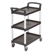 "Cambro - Knock Down Service Cart, 3-Tier Black with 3"" Casters"
