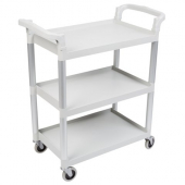 "Cambro - Knock Down Utility Cart, 3-Tier Speckled Gray with 4"" Casters"
