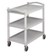 "Cambro - Knock Down Utility Cart, 3-Tier Speckled Gray with 5"" Casters"
