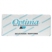 Allied West - Optima Beverage/Cocktail Napkin, 2-Ply 1/4 Fold, 9x10 White