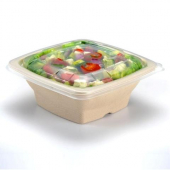 Sabert - Lid for 24-32 oz Square Bowls, Clear PP Plastic