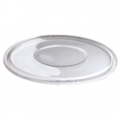 Sabert - Lid for 18-32 oz Round Bowls, Flat Clear PET Plastic