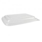 Sabert - Lid for 20-30 oz Rectangle Container, Clear PCR PET Plastic