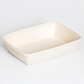 Sabert - Container, 30 oz Medium Rectangle 6x9 Molded Fiber Pulp