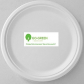 "Go-Green Tableware - Biodegradable (Bagasse) Plate, 6"" Round"