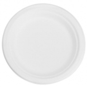 "Karat Earth - Plate, 7"" Round Compostable Bagasse"