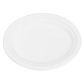 Karat Earth - Plate, 10x8 Oval Compostable Bagasse