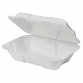 Karat Earth - Food Container with Hinged Lid, 9x6x3 Compostable Bagasse