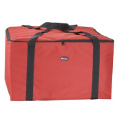 Winco - Pizza Insulated Delivery Bag, 22x22x12 Burgundy