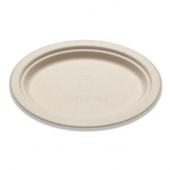 Bridge-Gate - Platter, 7x10 Oval Natural Brown Molded Fiber