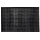 "Winco - Bar Service Mat, 12""x18"" Black"